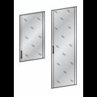 Двери стеклянные в алюминевой рамке